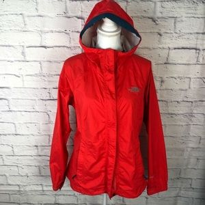 EUC NThe North Face Resolve Jacket in Red/ Navy